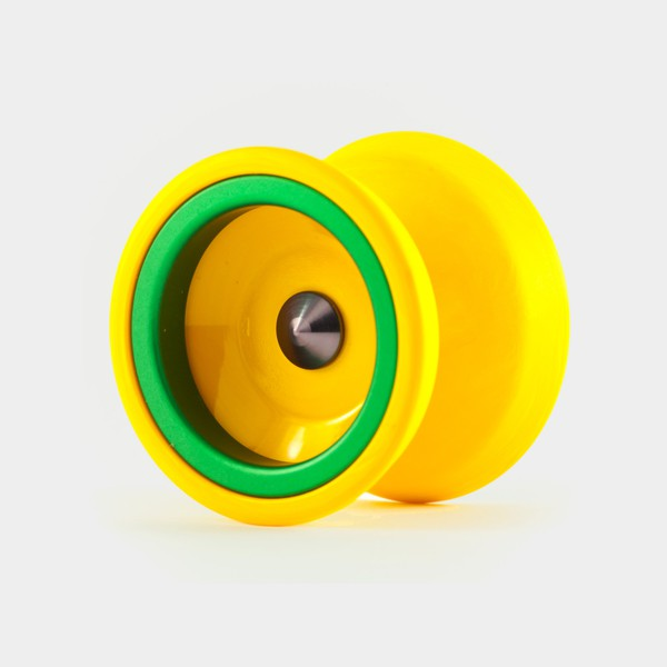 Rally yo-yo in Mango / green by One Drop YoYos