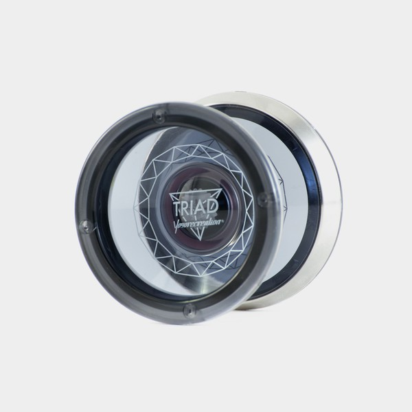 Triad yo-yo in Translucent Black by yoyorecreation
