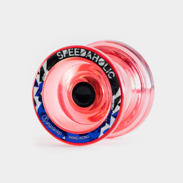 Speedaholic yo-yo in Clear Pink by C3yoyodesign