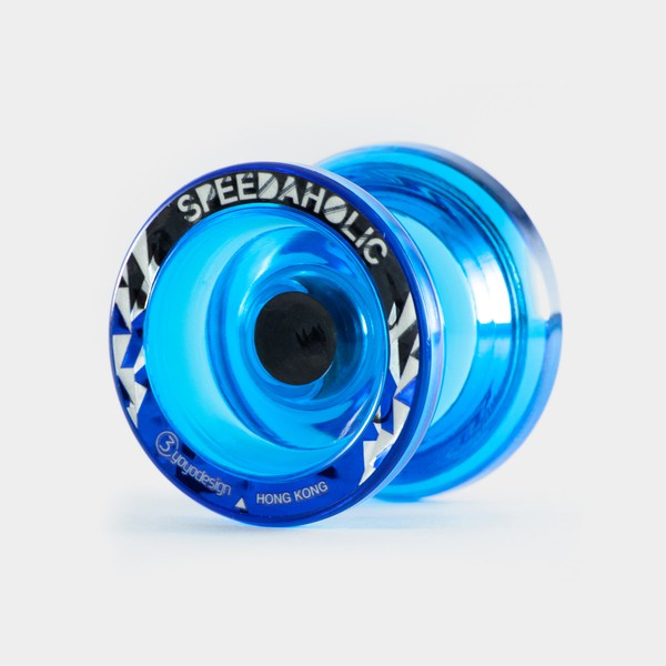 Speedaholic yo-yo in Clear Blue by C3yoyodesign