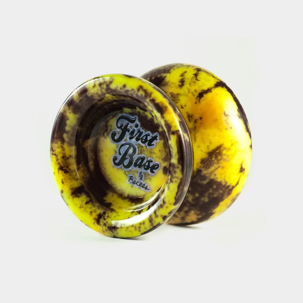 First Base yo-yo in Hand Dyed Yellow / Black by Recess Intl.