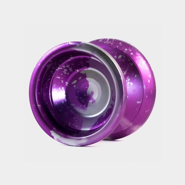 Orbis yo-yo in Purple / Silver Splash by YOYOFFICER