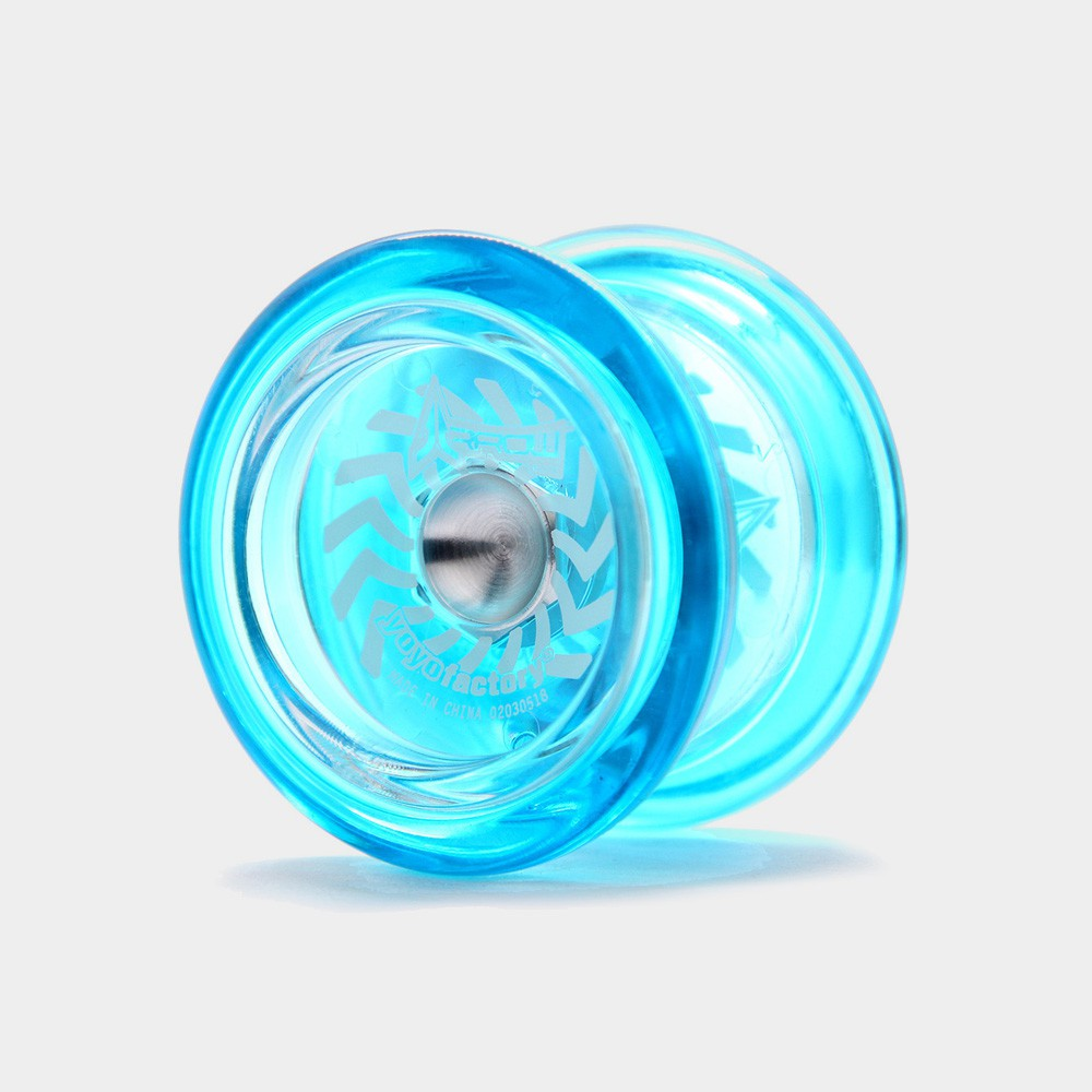 Arrow yo-yo in Translucent Blue by YoYoFactory