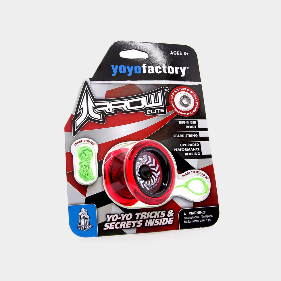 Arrow yo-yo in Translucent Red by YoYoFactory