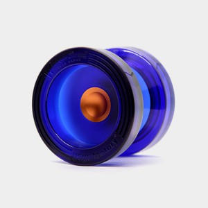 Wedge yo-yo in Translucent Blue / Gold by YoYoFactory