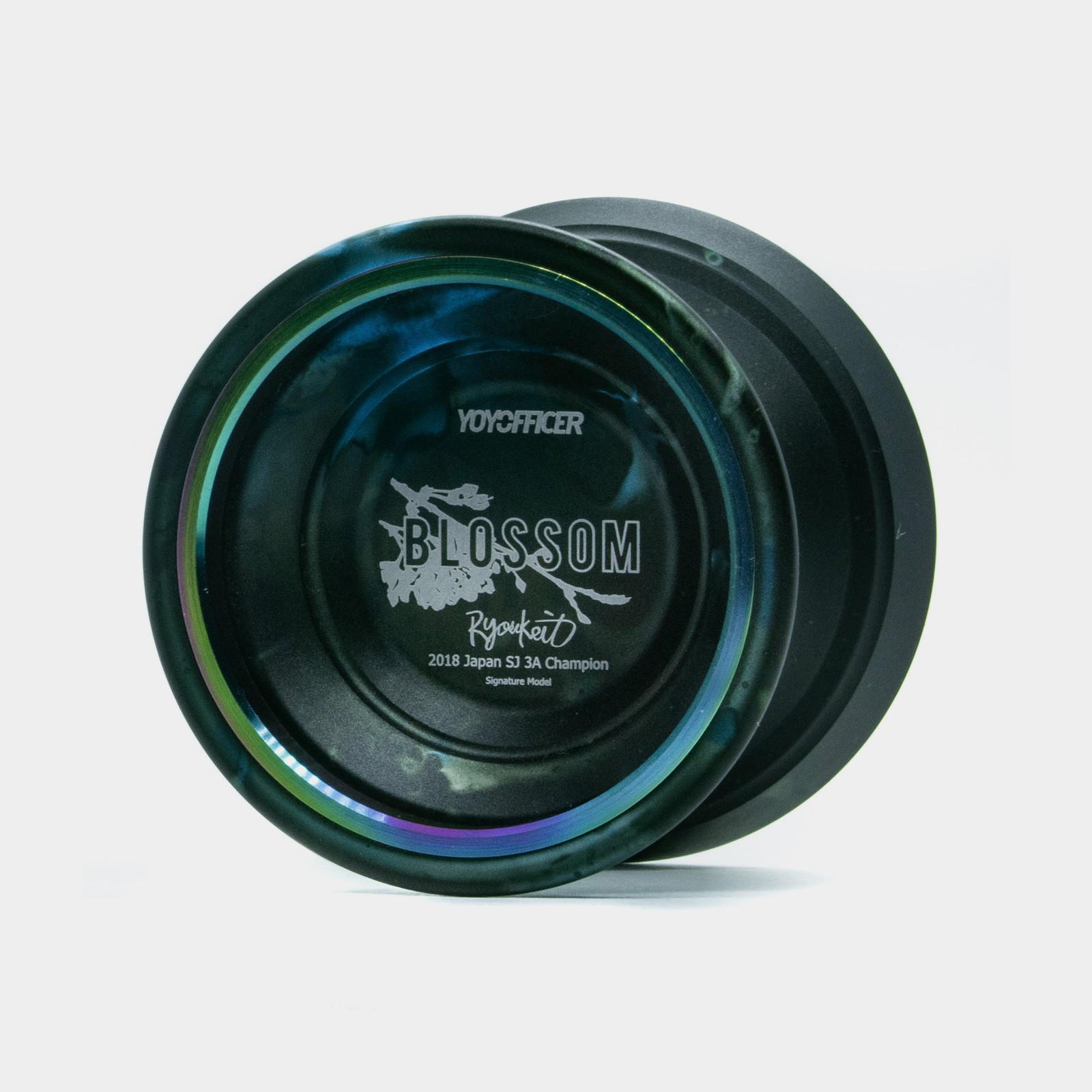 Blossom yo-yo in Green / Black Acid Wash / Rainbow by YOYOFFICER