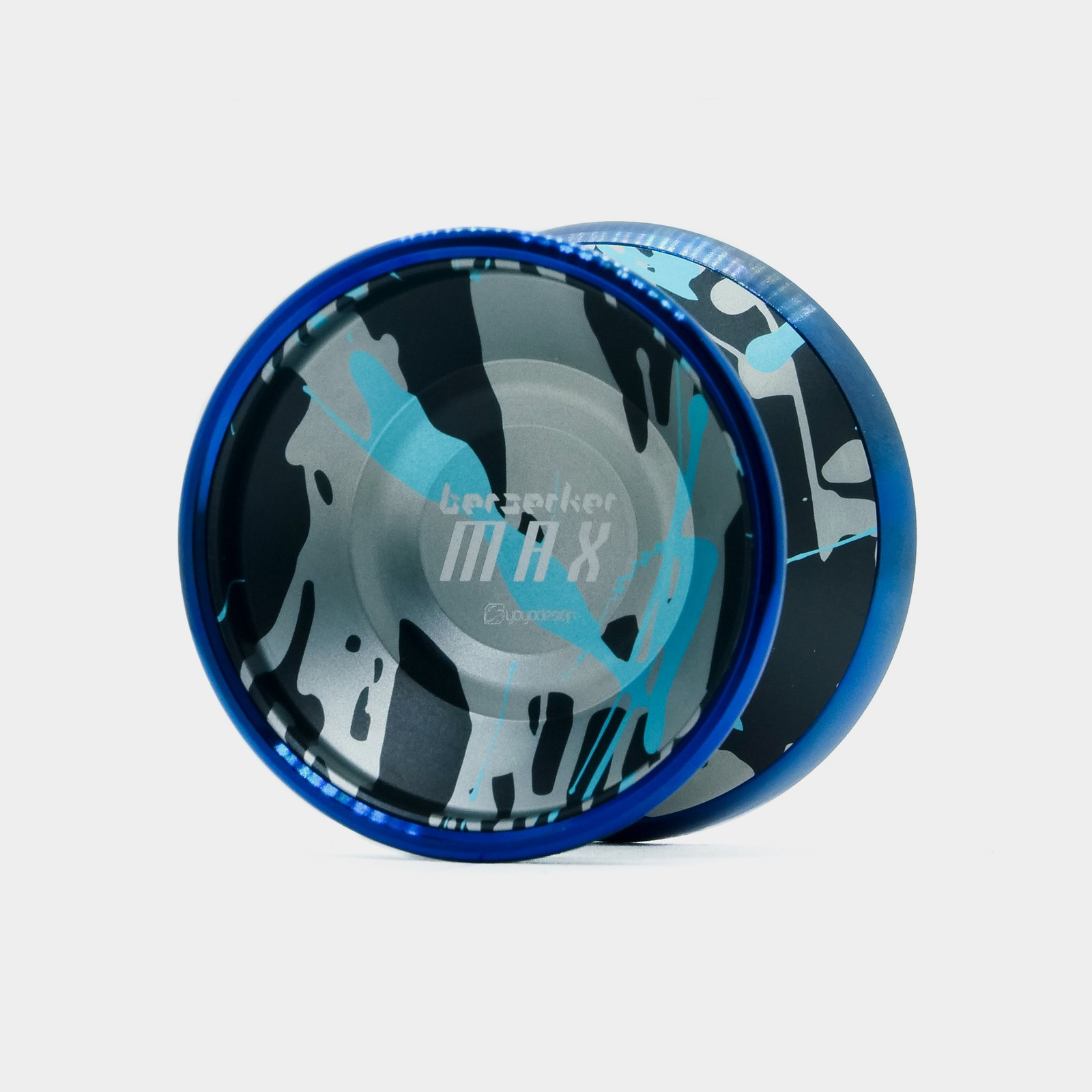 Berserker Max yo-yo in Black / Silver / Blue by C3yoyodesign