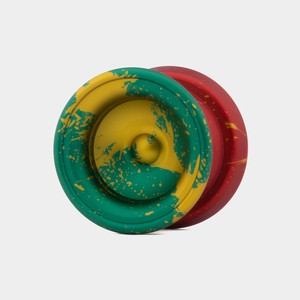 Valley yo-yo in Rasta by The Good Life Yoyos