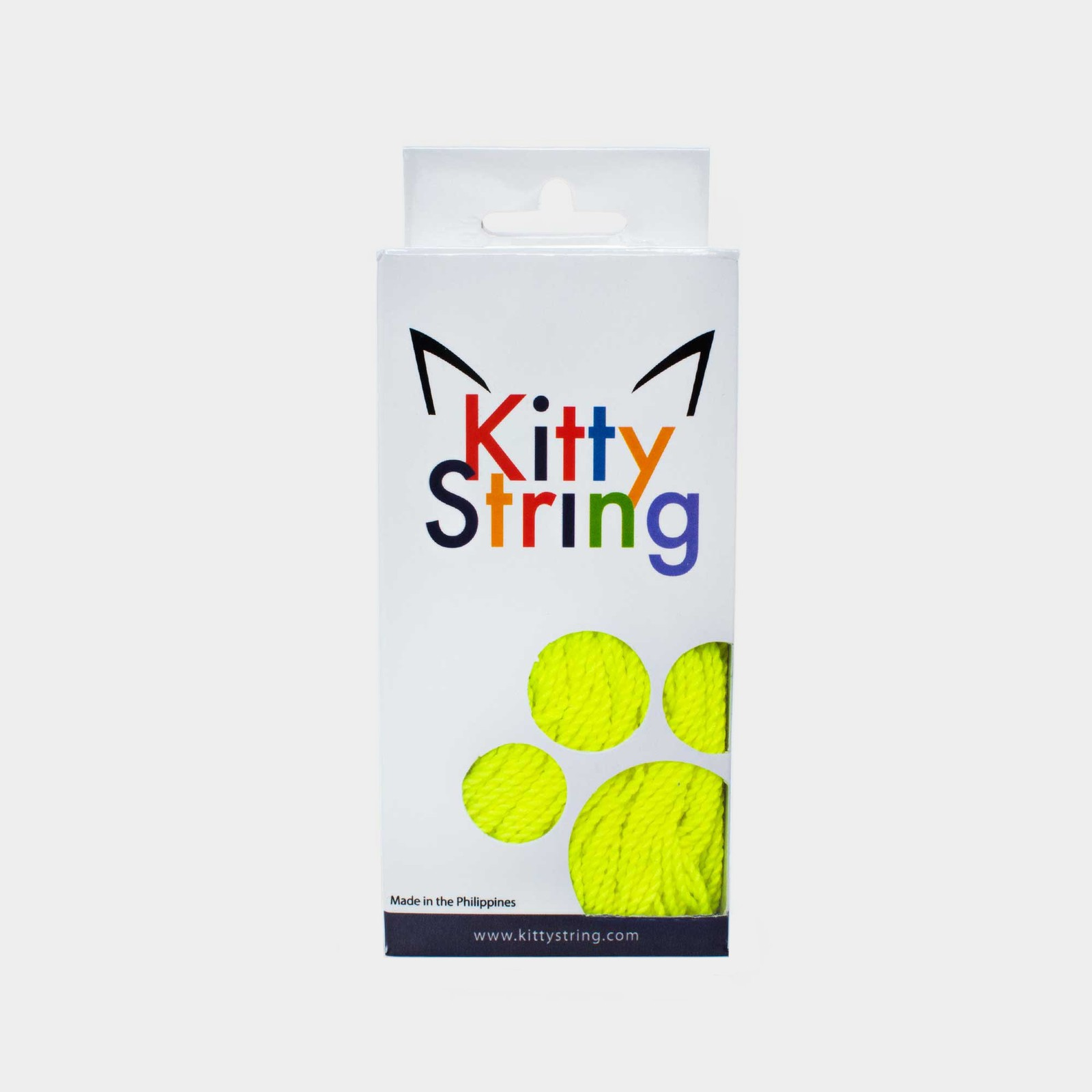 Yellow Kitty String Tall Fat (50 pack) yo-yo strings by Kitty String