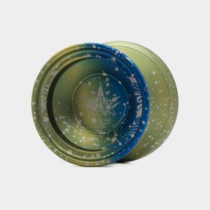 Krown yo-yo in Green / Blue / Silver by C3yoyodesign