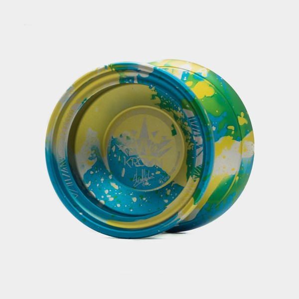 Krown yo-yo in Light blue / Yellow / Silver by C3yoyodesign