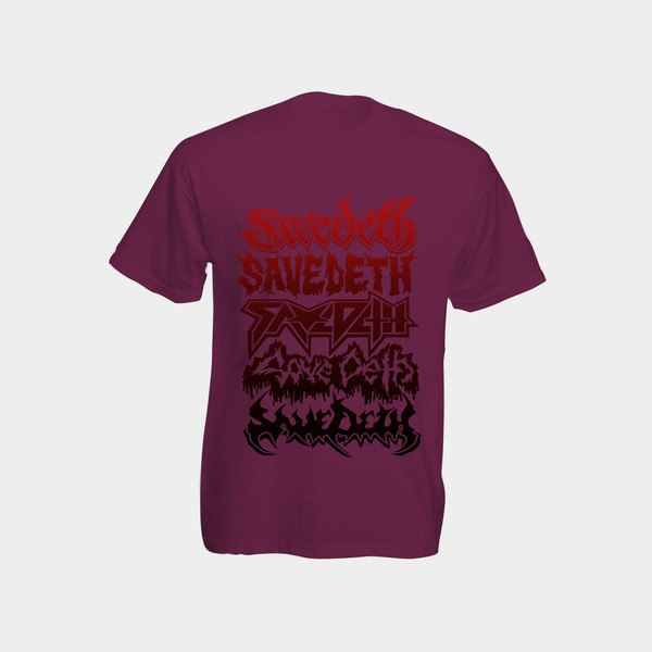 Metal tour / Black / Red on Purple (Size L) by Save Deth