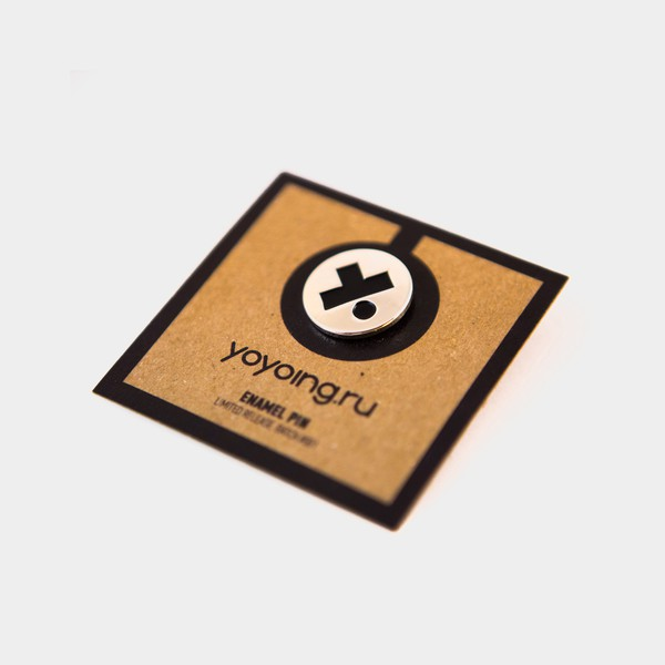 Batch #001 Enamel Pin (Metallic / Black) by yoyoing.ru