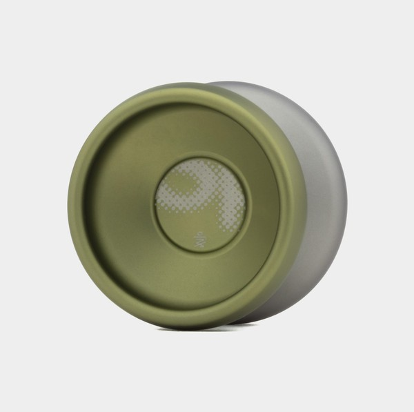 Comic Sans yo-yo in Spinkult Ed. / Green / Grey by yoyorecreation