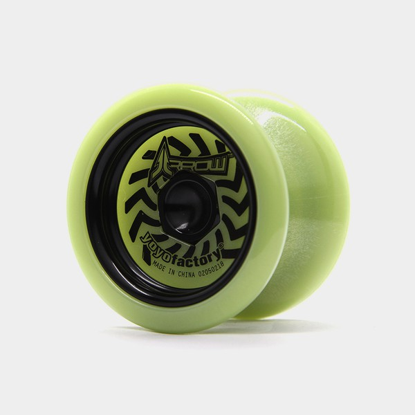 Arrow Metal Weight yo-yo in Glow / Black by YoYoFactory