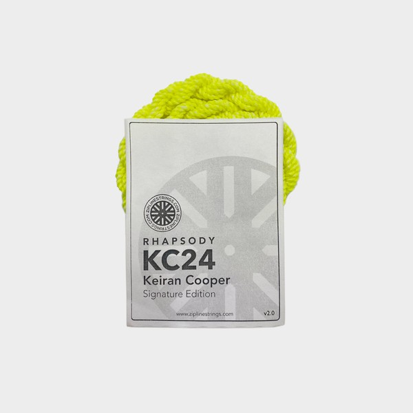 Keiran Cooper Ed. / Neon Yellow Rhapsody kc24 yo-yo strings by ZipLine Strings